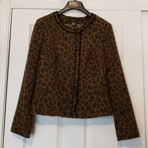 Leopard Print Ladies' Jacket Sz. 12